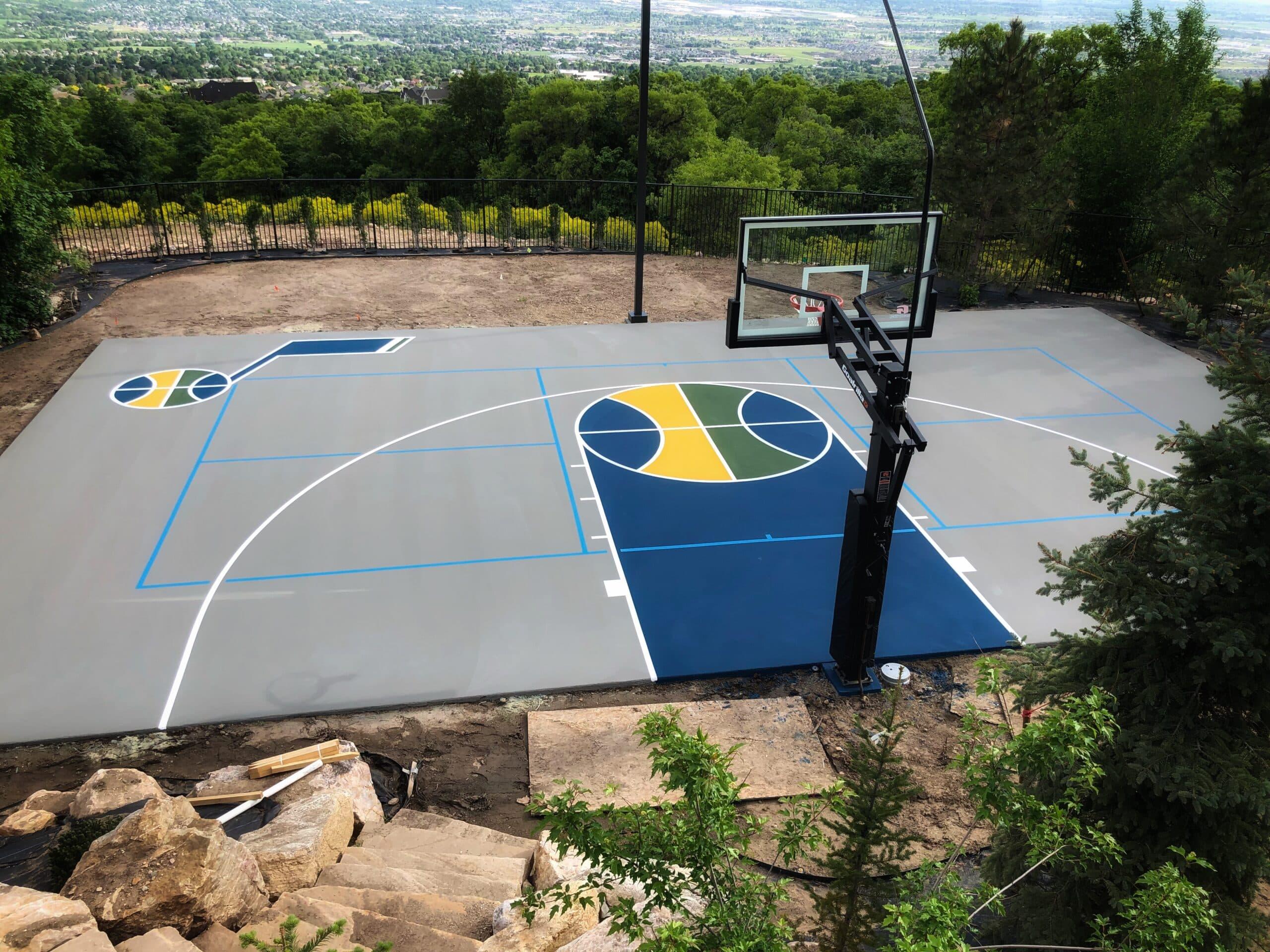 Utah Court Surfacing Outdoor Sports Court Basketball Court