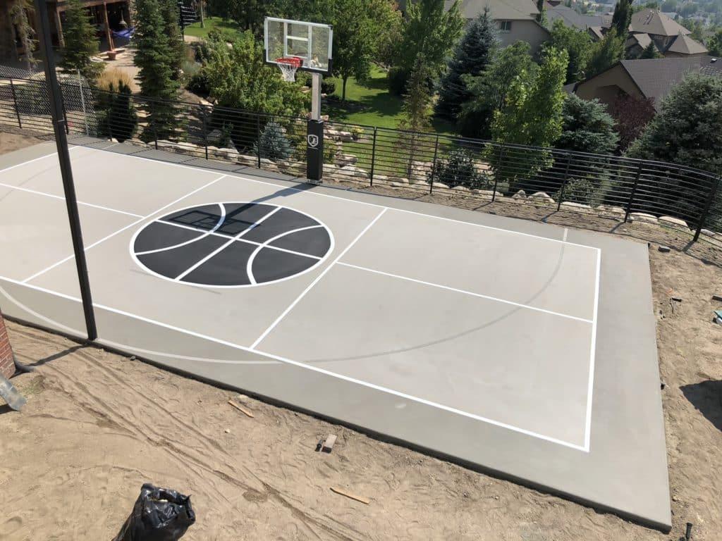 Utah Court Surfacing Outdoor Sports Court Custom Graphics